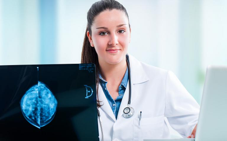 GE automated breast ultrasound examination adapts to individual patient needs