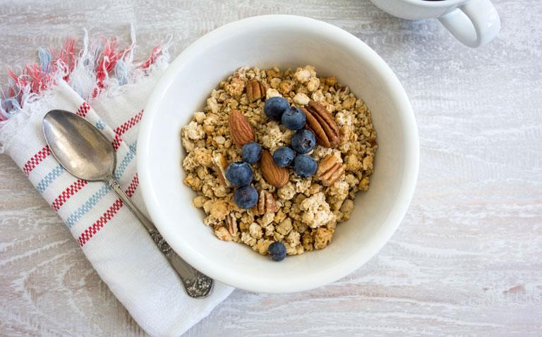 high fibre breakfast